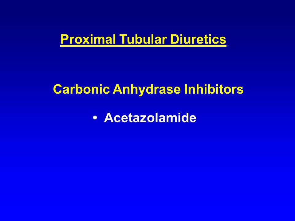 Proximal Tubular Diuretics Carbonic Anhydrase Inhibitors Acetazolamide