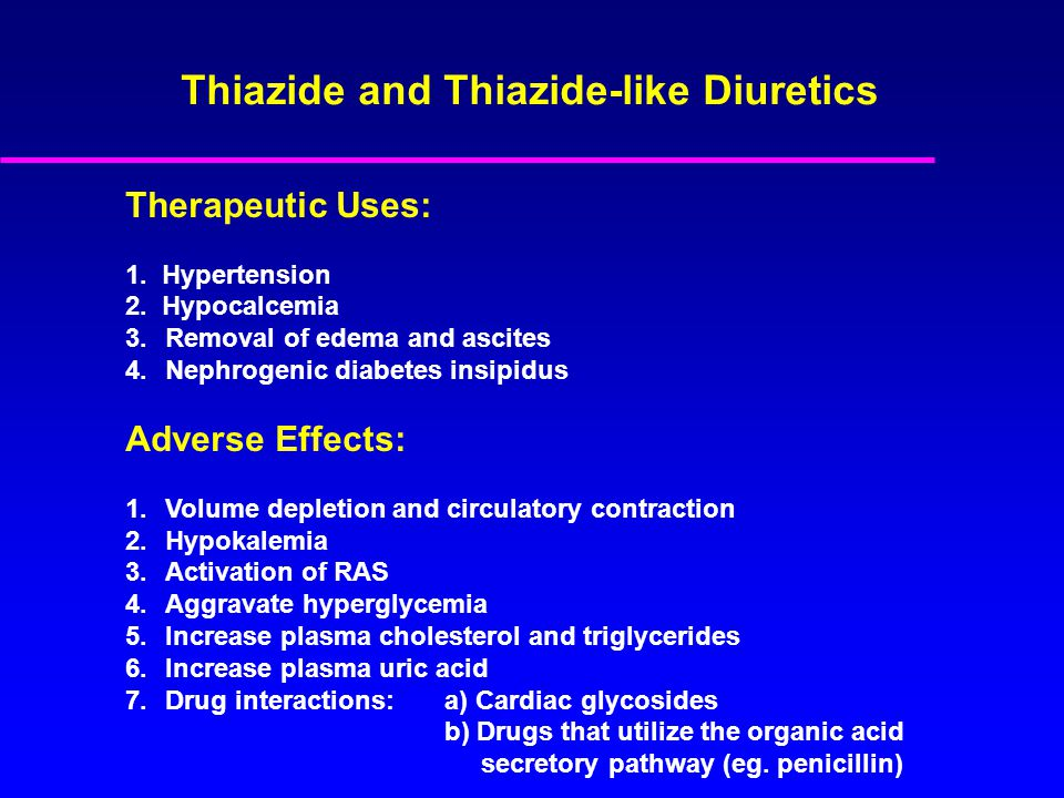 Therapeutic Uses: 1. Hypertension 2.