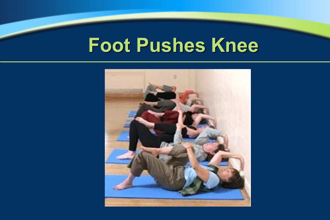 Foot Pushes Knee