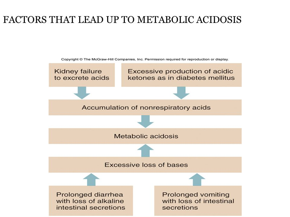 FACTORS THAT LEAD UP TO METABOLIC ACIDOSIS