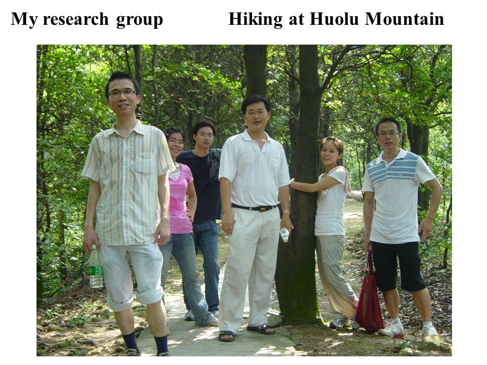 My research groupHiking at Huolu Mountain