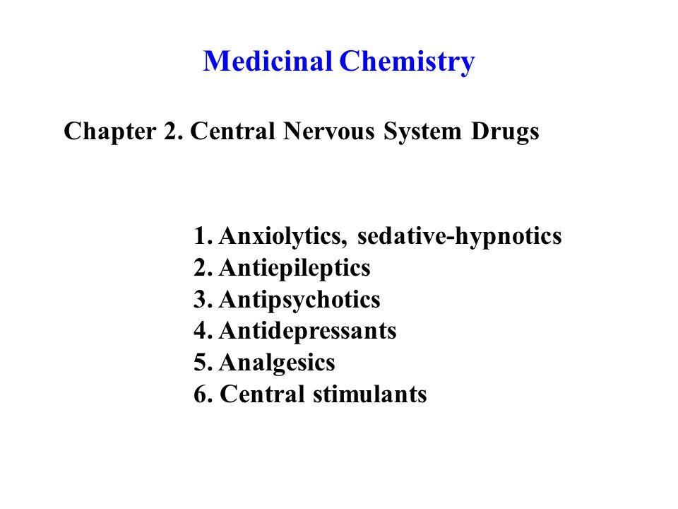Medicinal Chemistry Chapter 2. Central Nervous System Drugs 1.