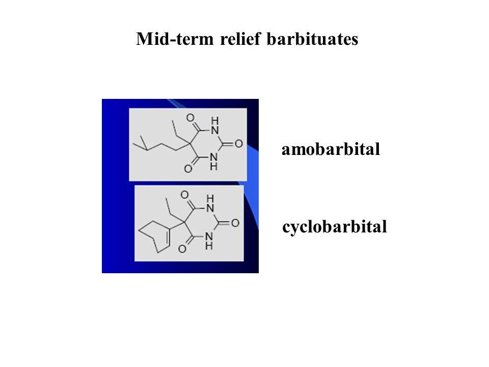 Mid-term relief barbituates amobarbital cyclobarbital