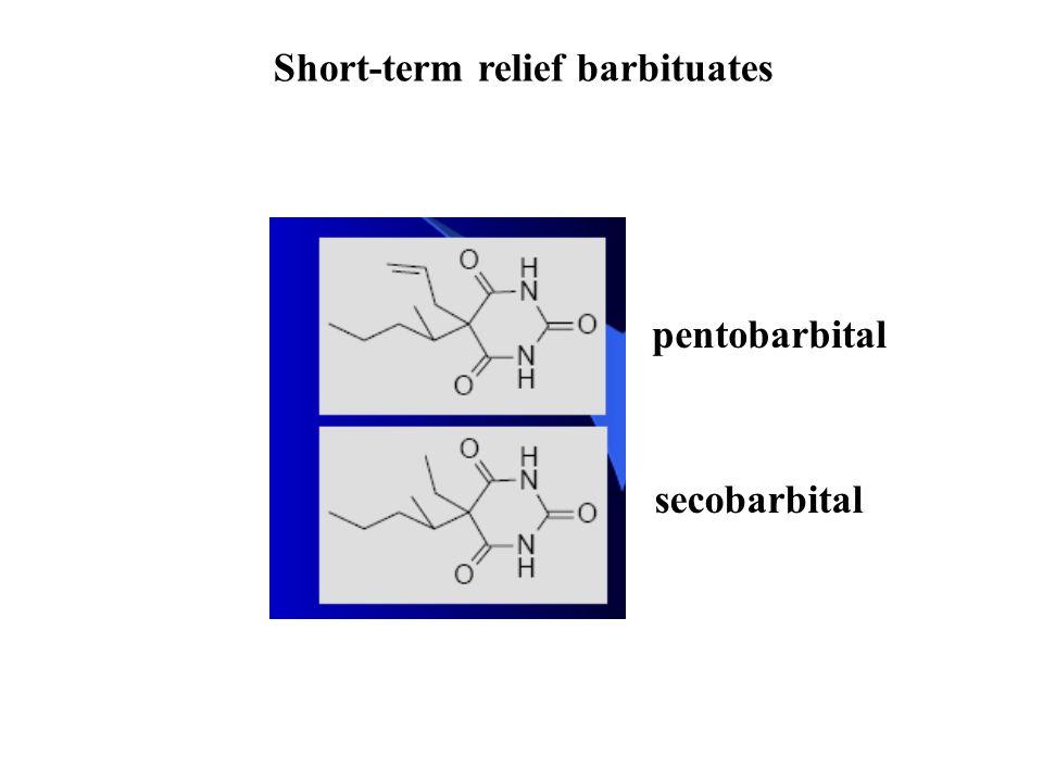 Short-term relief barbituates pentobarbital secobarbital