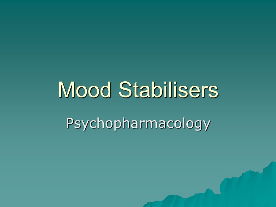  The treatment of bipolar disorder may be divided into three overlapping phases –Acute manic episode –Depressive episode –Prophylactic treatment  Only 1/3 of bipolar patients experience adequate relief with a monotherapy.