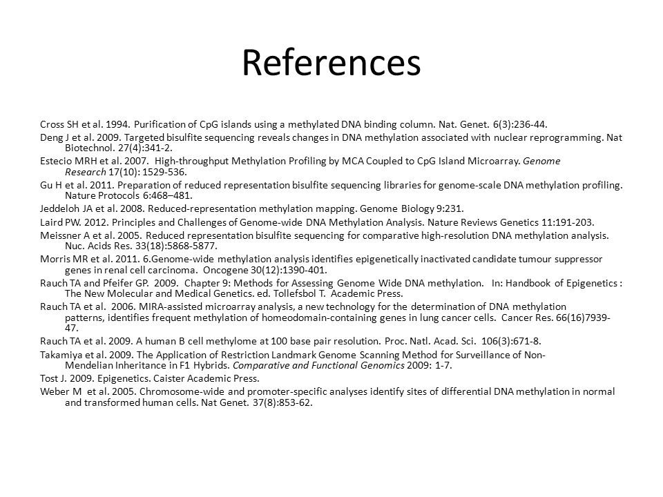 References Cross SH et al. 1994.
