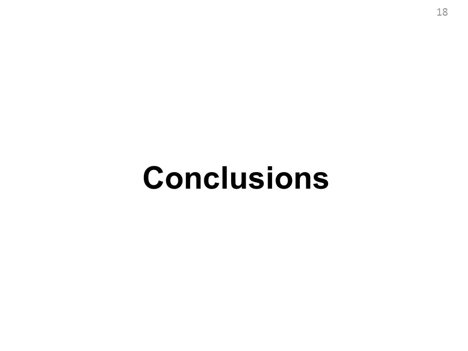 Conclusions 18