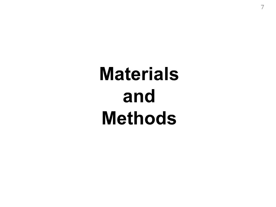 7 Materials and Methods