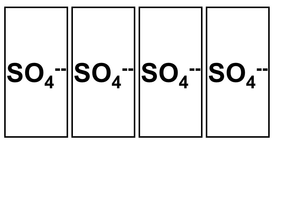 SO 4 --