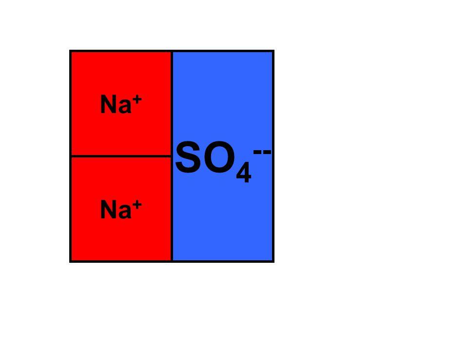 Na + SO 4 --