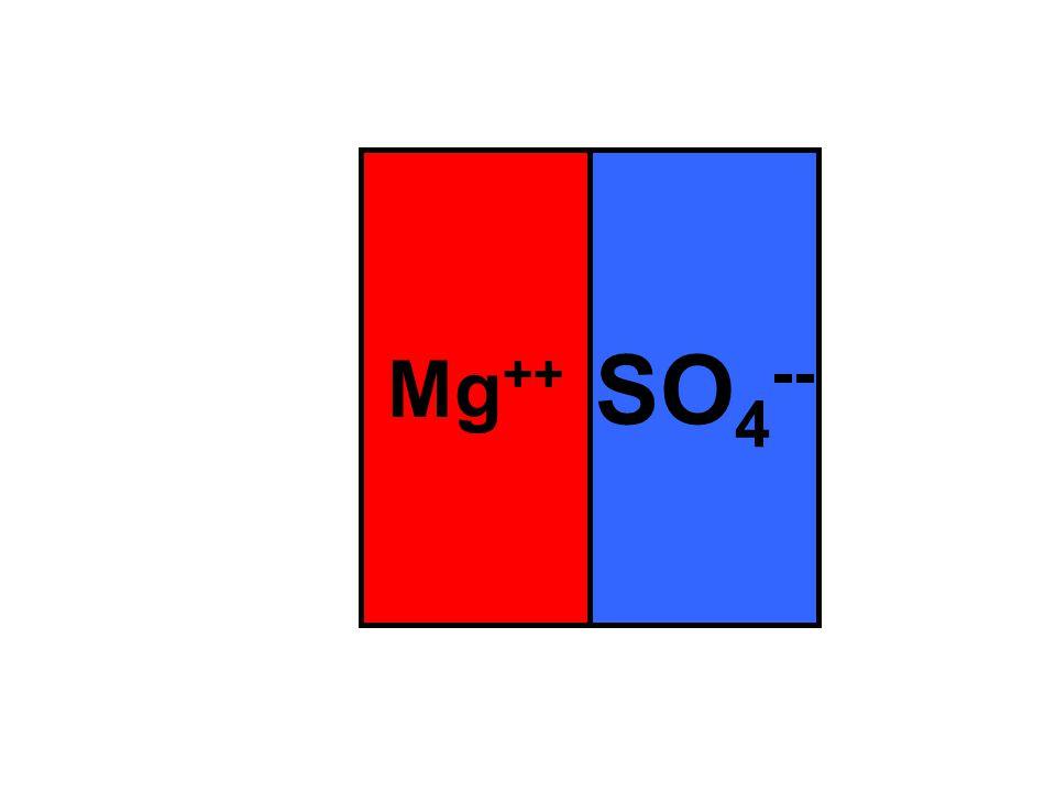 Mg ++ SO 4 --