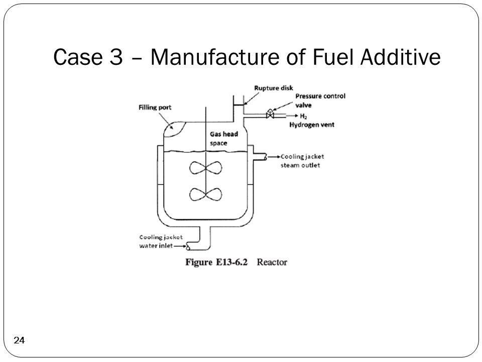 24 Case 3 – Manufacture of Fuel Additive