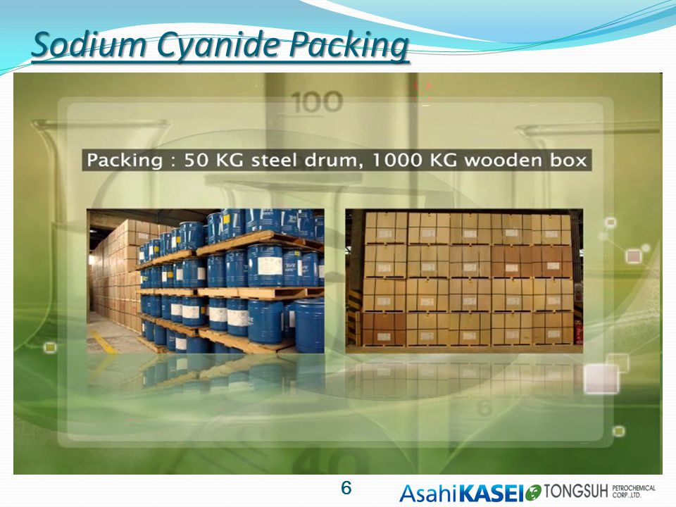Sodium Cyanide Packing 6