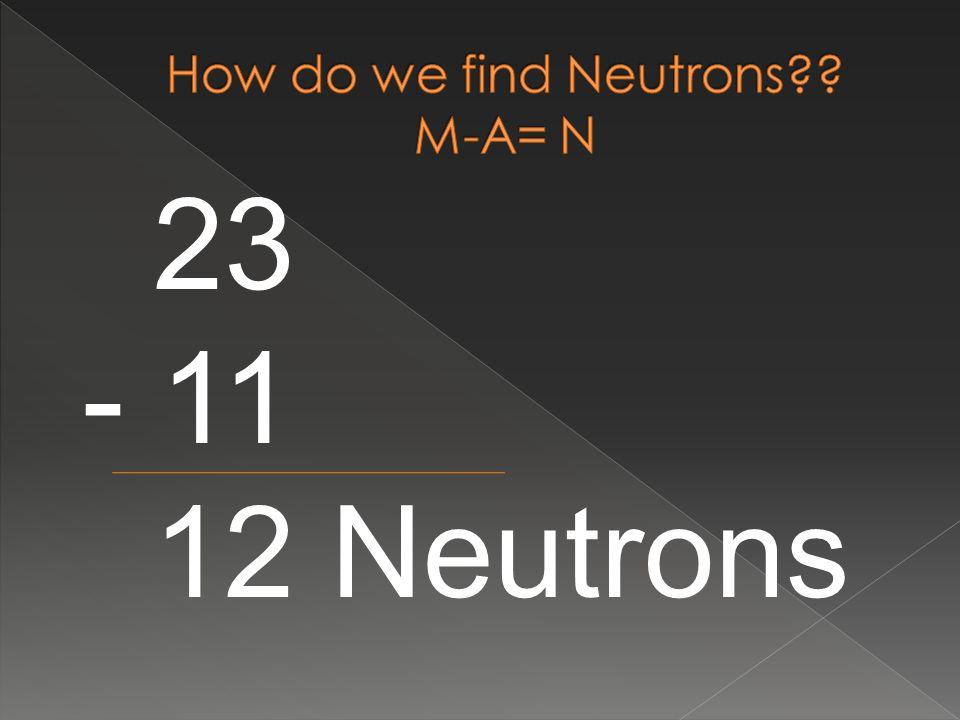 23 - 11 12 Neutrons