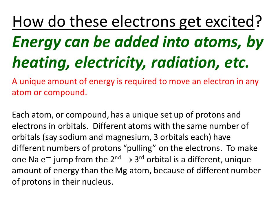 How do these electrons get excited.