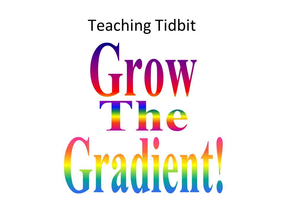 Teaching Tidbit