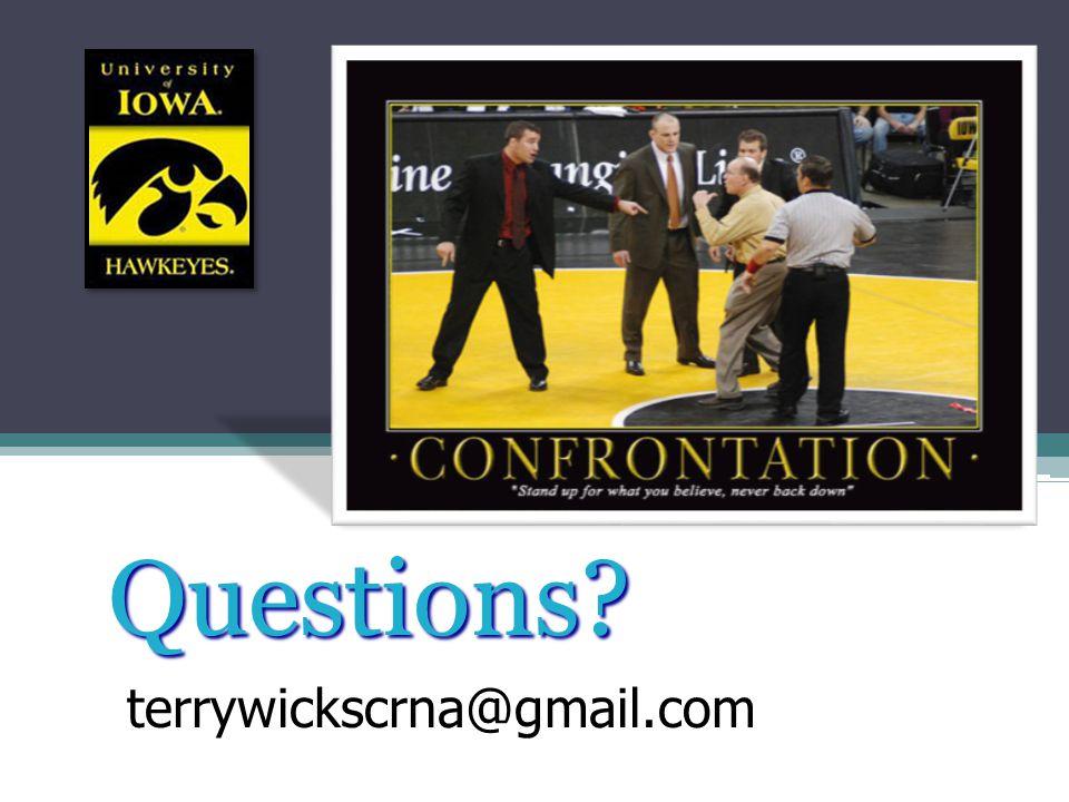Questions? terrywickscrna@gmail.com