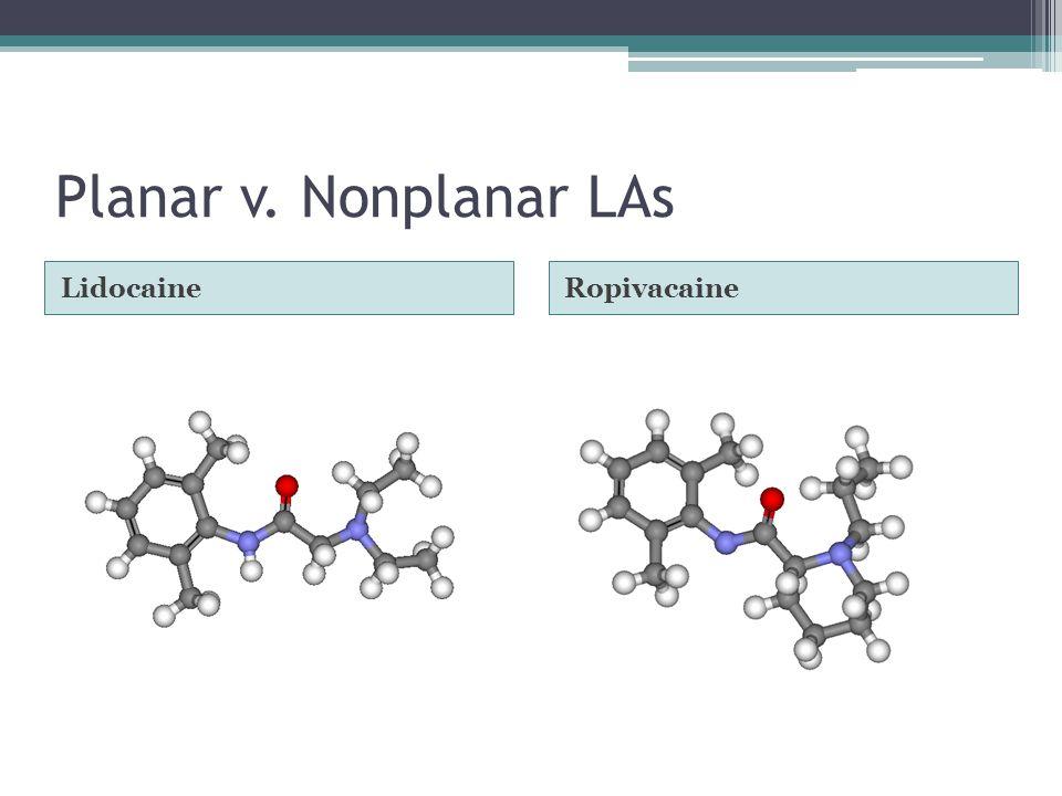 Planar v. Nonplanar LAs Lidocaine Ropivacaine