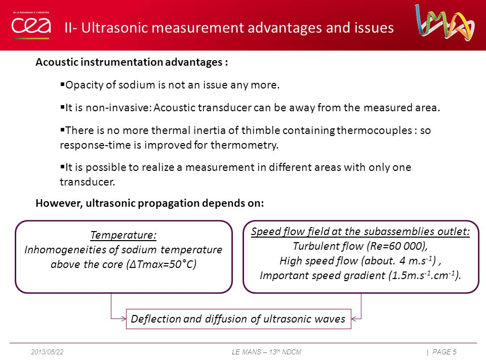 Acoustic instrumentation advantages :  Opacity of sodium is not an issue any more.