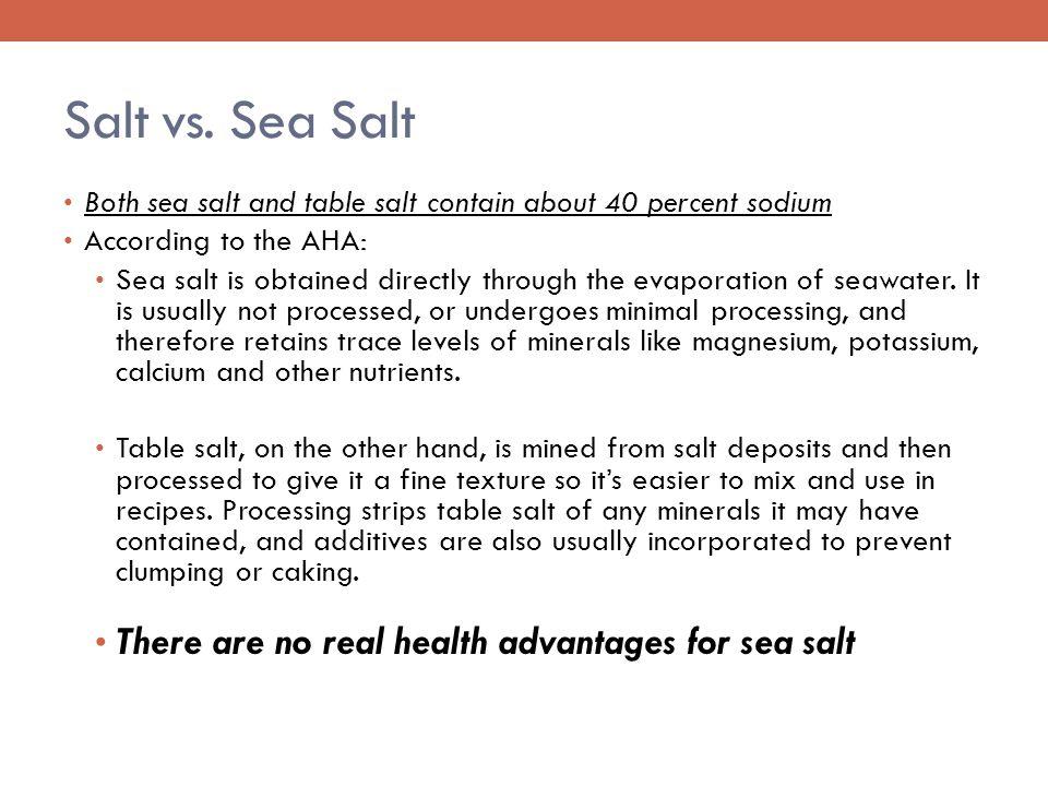 Salt vs.