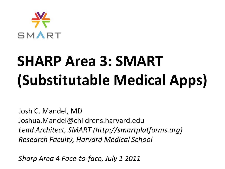 SHARP Area 3: SMART (Substitutable Medical Apps) Josh C.