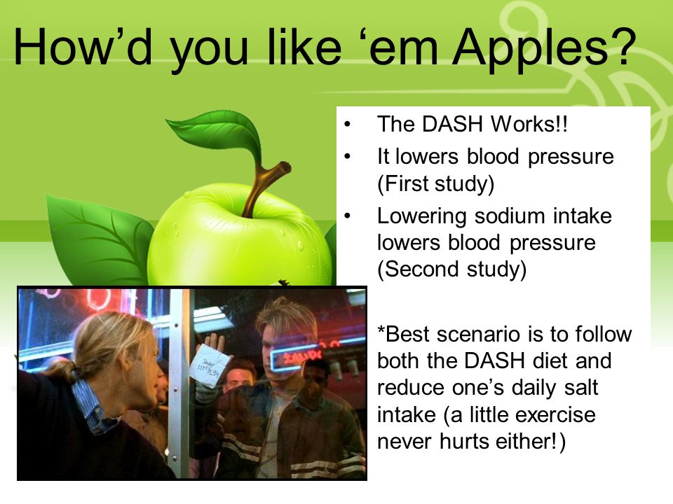 How'd you like 'em Apples. The DASH Works!.