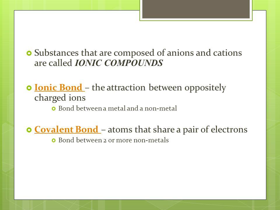 Ionic Compound Names EXAMPLE : Al 2 O 3 1.