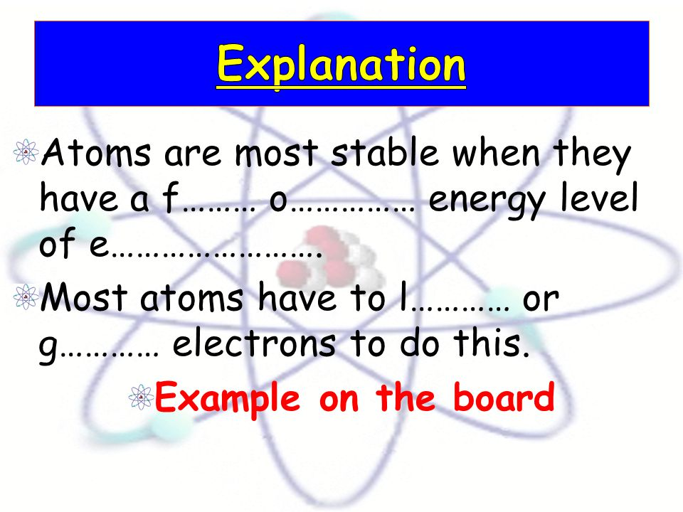 Atoms which have lost or gained e…………………… are called i……….