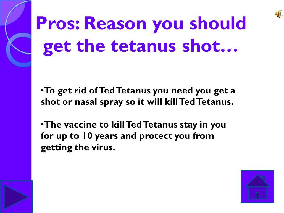 Tetanus vaccine: To make the vaccine to keep you safe from Ted Tetanus you need Aluminum, Hydroxicells, Potassium, Chloride, Neomycin, Polysorbate, Su