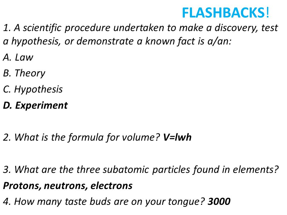 FLASHBACKS. 1.