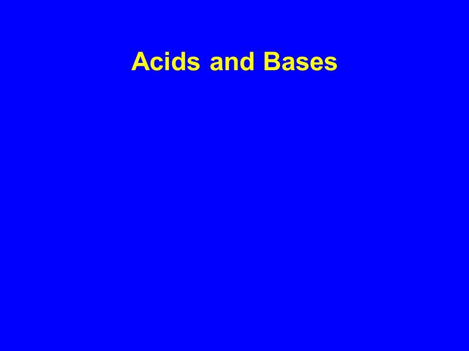 Arrhenius Acids and Bases Acids produce H + in aqueous solutions water HCl H + (aq) + Cl - (aq) Bases produce OH - in aqueous solutions water NaOH Na + (aq) + OH - (aq)