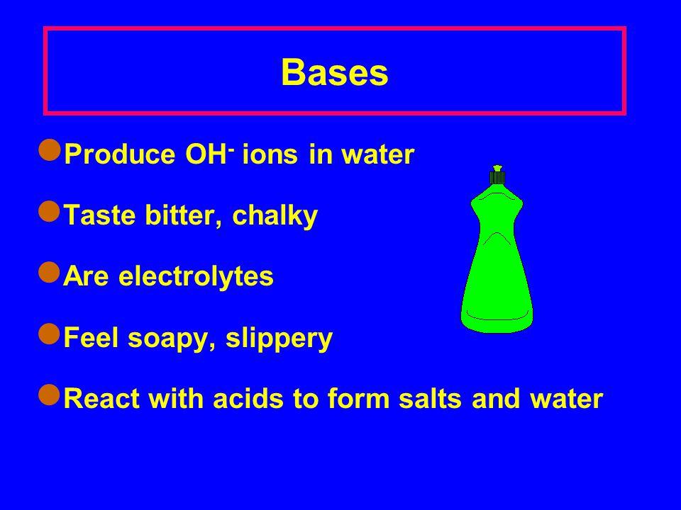 Some Common Acids HCl hydrochloric acid HNO 3 nitric acid H 3 PO 4 phosphor ic acid H 2 SO 4 sulphur ic acid CH 3 COOH ethano ic acid