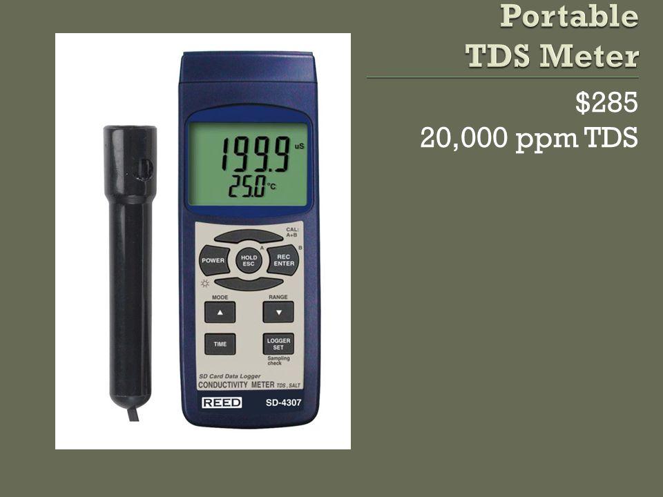 $285 20,000 ppm TDS