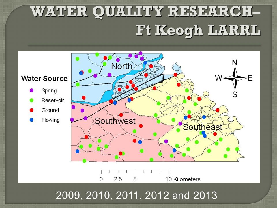 WATER QUALITY RESEARCH– Ft Keogh LARRL 2009, 2010, 2011, 2012 and 2013