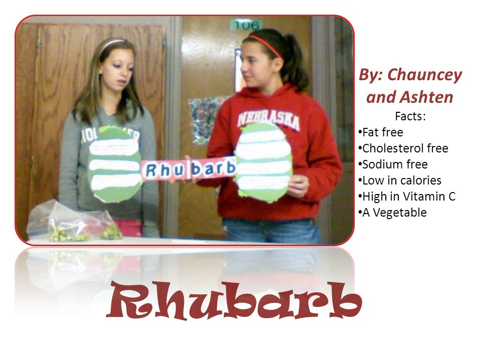 Rhubarb By: Chauncey and Ashten Demo/Poster