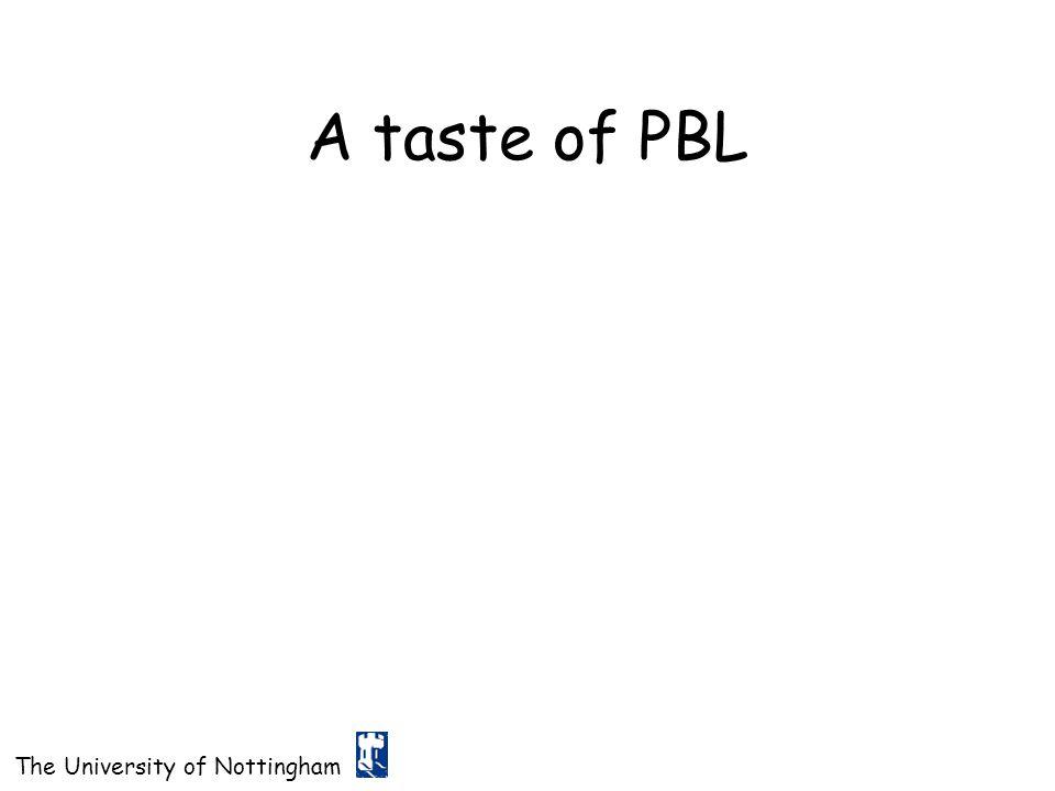 A taste of PBL