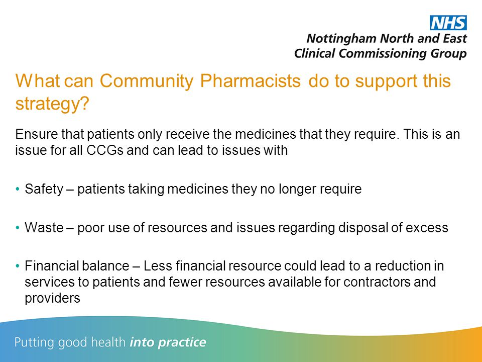 What can Community Pharmacists do to support this strategy.