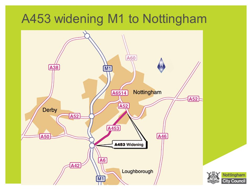A453 widening M1 to Nottingham