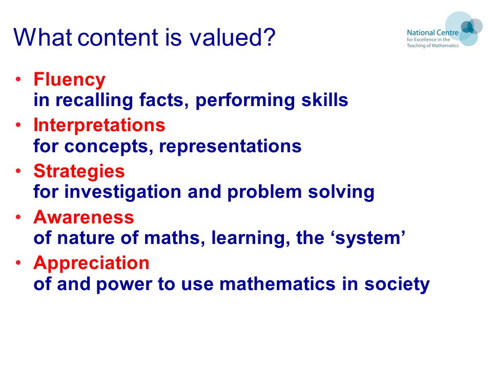 What content is valued.