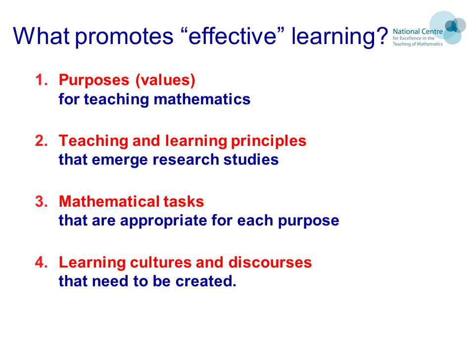What promotes effective learning.
