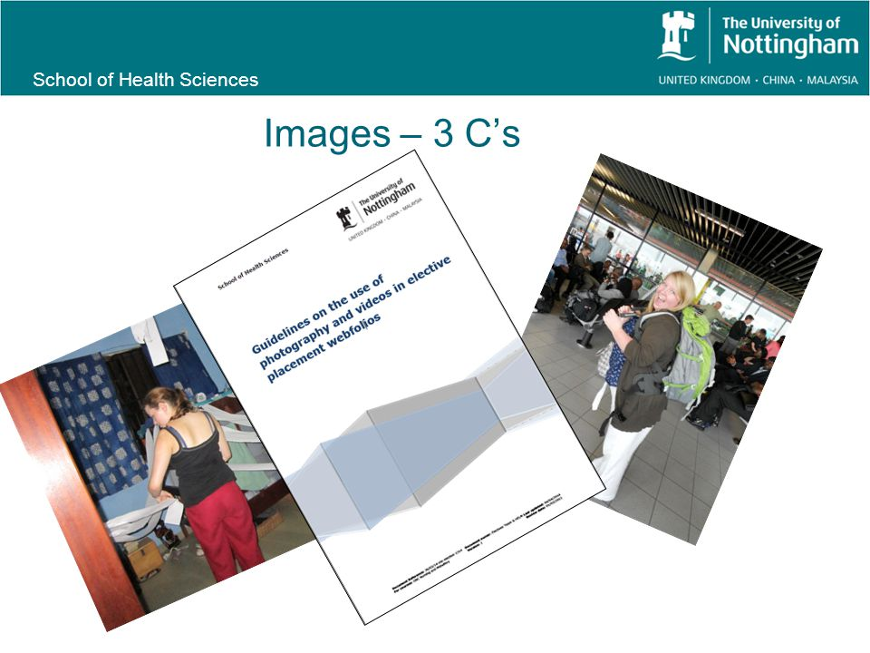 School of Health Sciences Images – 3 C's