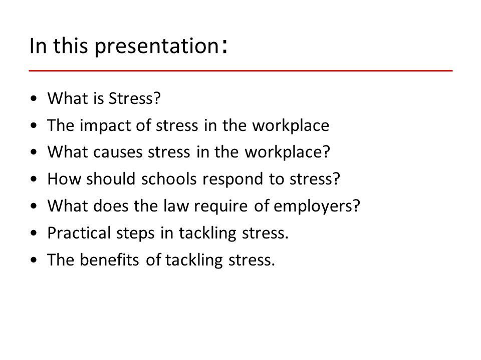 Is work-stress a serious hazard.