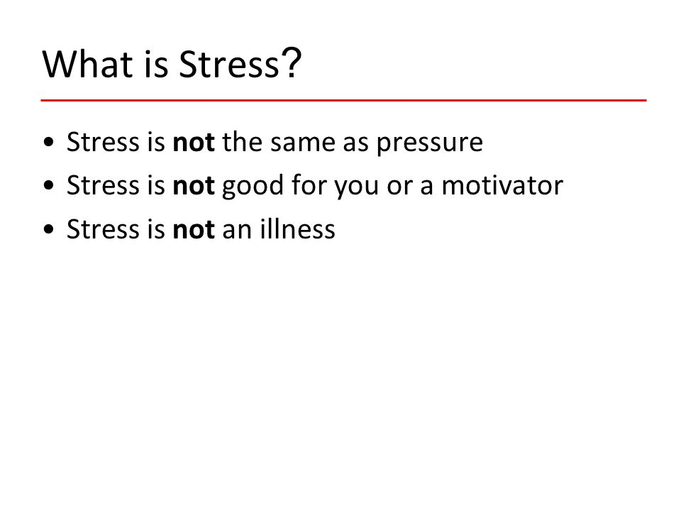 Practical steps in tackling stress.