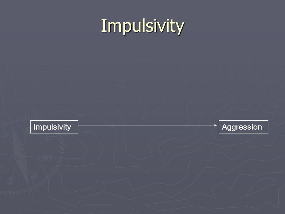 Impulsivity ImpulsivityAggression
