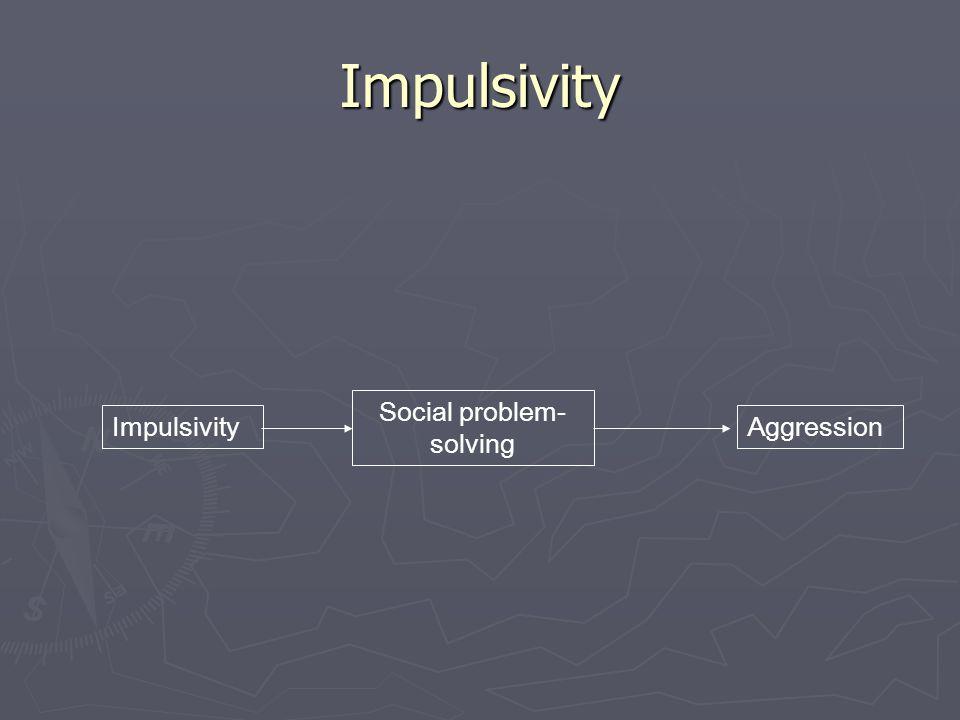 Impulsivity Impulsivity Social problem- solving Aggression
