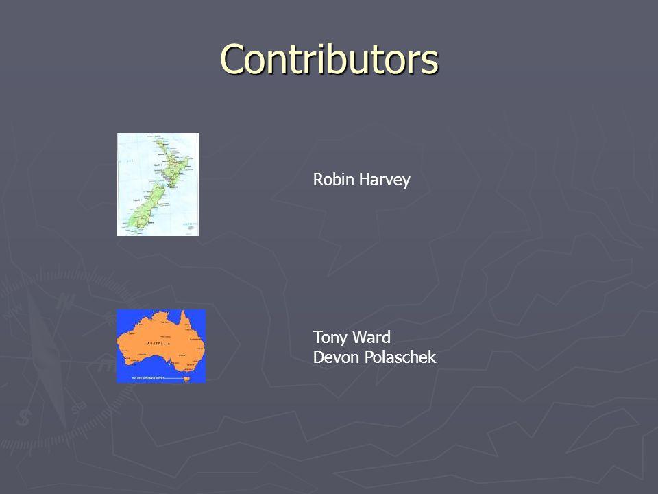 Contributors Robin Harvey Tony Ward Devon Polaschek