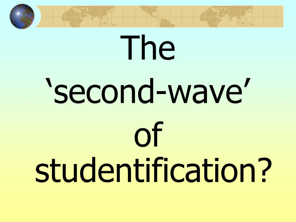 The 'second-wave' of studentification