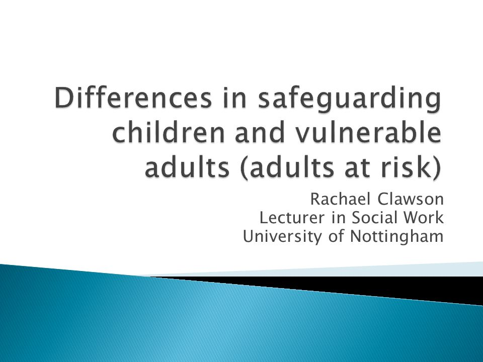Rachael Clawson Lecturer in Social Work University of Nottingham