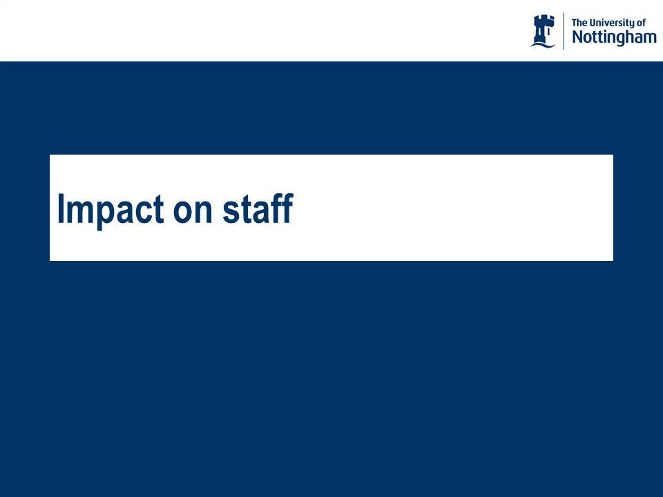Impact on staff