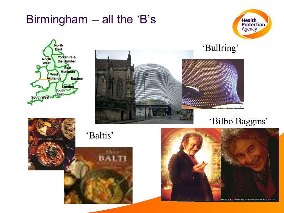 Birmingham – all the 'B's 'Bullring' 'Bilbo Baggins' 'Baltis'